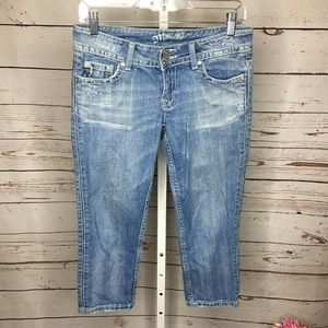 Miss Me Light Wash Cropped Jeans Size 27
